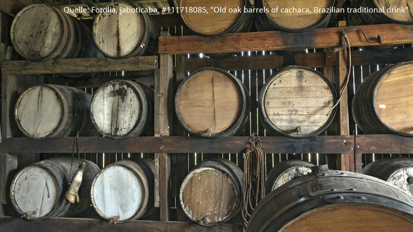 Cachaca Reifung Holzfässer